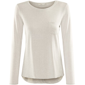 Prana W's Foundation L/S Crew Neck Top Light Grey Heather